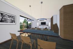 RD Revoluční - vizualizace obývacího pokoje 2