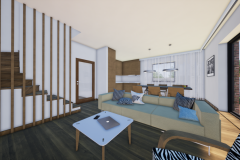 RD Revoluční - vizualizace obývacího pokoje 2_03