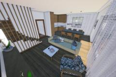 RD Revoluční - vizualizace obývacího pokoje 2_04