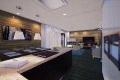 RD Revoluční - vizualizace obývacího pokoje 1