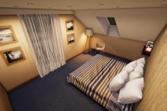 RD Revoluční - vizualizace ložnice